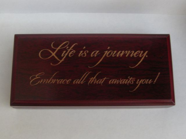 Cherry Pen Box  - Engraved with Origins font style