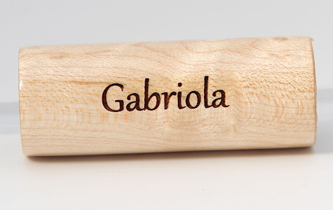 Gabriola font example on Birds Eye Maple