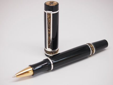 Ready-Made: Rollerball, Cambridge Style ~ Rhodium & Gold Finish (350)