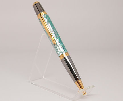 Ready-Made: Ballpoint, Sierra Style ~ Black & Gold Titanium Finish (724)