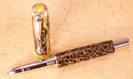 Custom: Rollerball, Jr. Statesman ~  Rhodium & Gold Finish