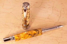 Custom: Rollerball, Jr. Statesmen Style ~ Rhodium & Black Titanium Finish