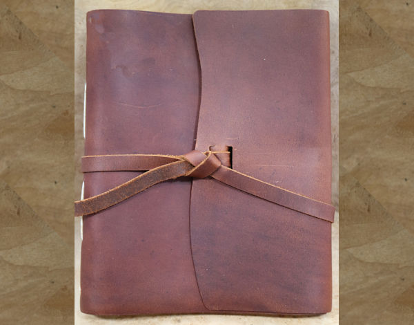 Rustico Journal: Leather Traveler 6.5″ x 8″  ~ Saddle