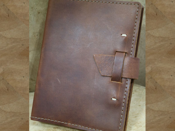 Rustico Journal: Leather Wasatch 5.5″ x 7.25″  ~ Saddle
